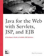 Cover of Java for the Web with Servlets, JSP, and EJB: A Developer's Guide to J2EE Solutions