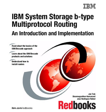 IBM System Storage b-type Multiprotocol Routing: An Introduction and Implementation