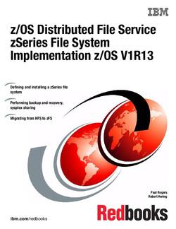 z/OS Distributed File Service zSeries File System Implementation z/OS V1R13