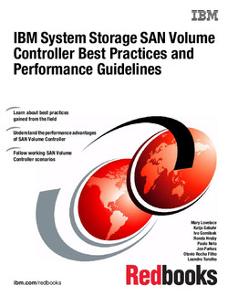 IBM System Storage SAN Volume Controller Best Practices and Performance Guidelines