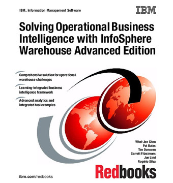 Solving Operational Business Intelligence with InfoSphere Warehouse Advanced Edition