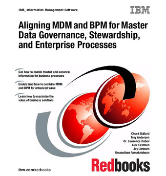 Aligning MDM and BPM for Master Data Governance, Stewardship, and Enterprise Processes