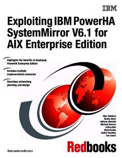Exploiting IBM PowerHA SystemMirror V6.1 for AIX Enterprise Edition