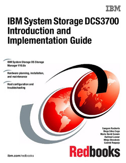 IBM System Storage DCS3700 Introduction and Implementation Guide