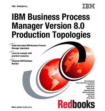 IBM Business Process Manager Version 8.0 Production Topologies