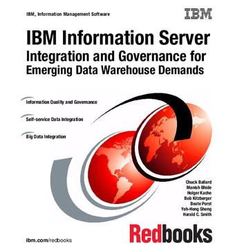 IBM Information Server: Integration and Governance for Emerging Data Warehouse Demands