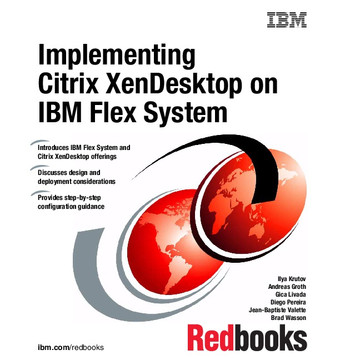 Implementing Citrix XenDesktop on IBM Flex System