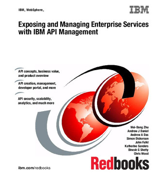 Exposing and Managing Enterprise Services with IBM API Management