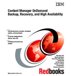 Content Manager OnDemand Backup, Recovery, and High Availability