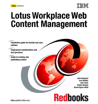 Lotus Workplace Web Content Management