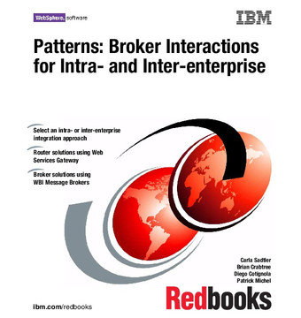 Patterns: Broker Interactions for Intra- and Inter-enterprise