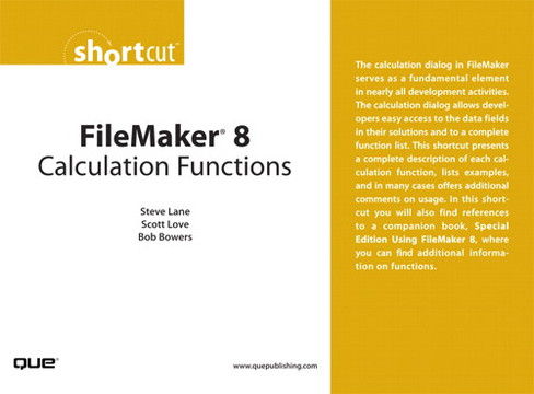 FileMaker 8 Calculation Functions