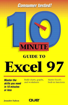 Ten Minute Guide to Excel 97