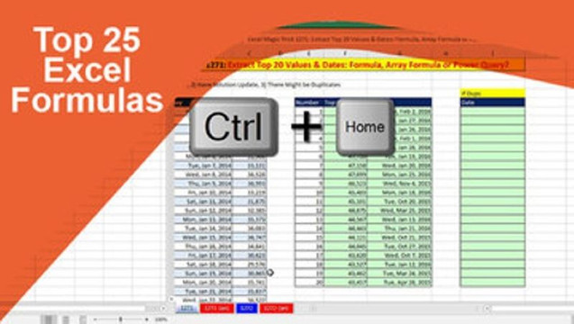 Top 25 Excel Formulas