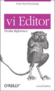 Cover image for vi Editor Pocket Reference