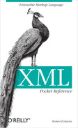 Cover image for XML Pocket Reference