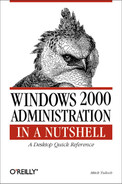 Cover image for Windows 2000 Administration in a Nutshell