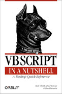 Cover image for VBScript in a Nutshell