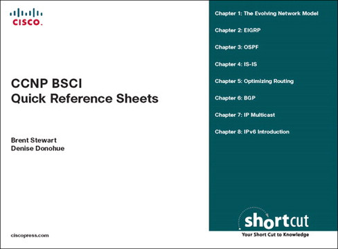 CCNP BSCI Quick Reference Sheets: Exam 642-901