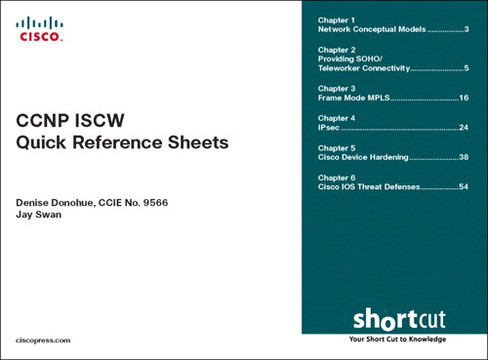 CCNP ISCW Quick Reference Sheets