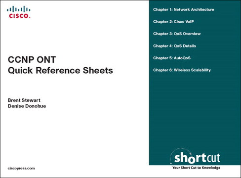 CCNP ONT Quick Reference Sheets: Exam 642-845