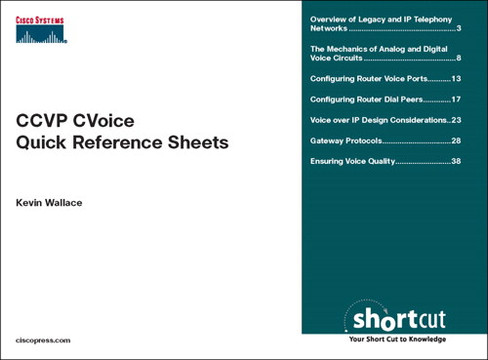 CCVP CVOICE Quick Reference Sheets