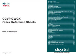 CCVP GWGK Quick Reference Sheets