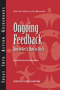 Cover of Ongoing Feedback: How To Get It, How To Use It