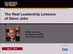 The Leadership Lessons of Steve Jobs