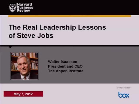 The Leadership Lessons of Steve Jobs