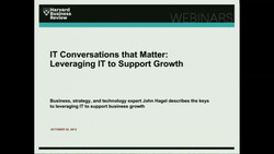 IT Conversations that Matter: Leveraging IT to Support Growth