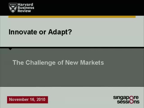 Innovate or Adapt? The Challenge of New Markets