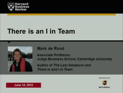 """There Is an """"I"""" in Team"""