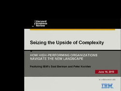 Seizing the Upside of Complexity