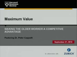 Maximum Value: Making the Older Worker a Competitive Advantage