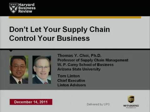 Don't Let Your Supply Chain Control Your Business