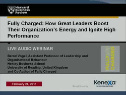 Fully Charged. How Great Leaders Boost Their Organization's Energy and Ignite High Performance