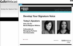 Develop Your Signature Voice