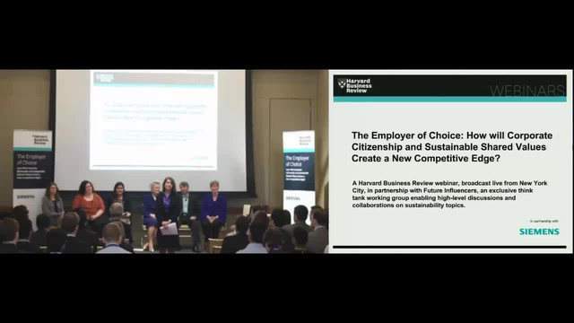 The Employer of Choice: How Will Corporate Citizenship and Sustainable Shared Values Create a New Competitive Edge?