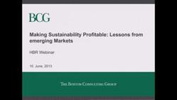 Making Sustainability Profitable