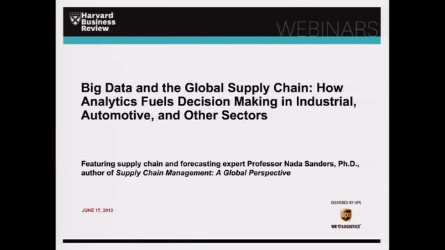 Big Data and the Global Supply Chain