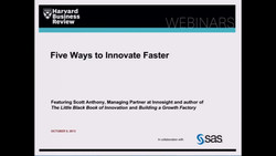 Five Ways to Innovate Faster