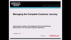 Managing the Complete Customer Journey