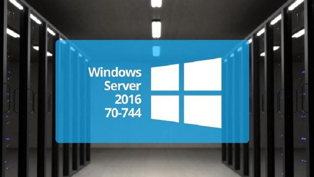 Microsoft 70-744: Securing Windows Server 2016