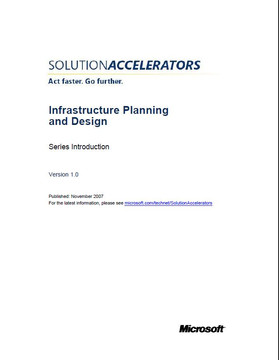 Infrastructure Planning and Design (IPD) Series Introduction