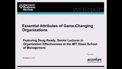 Essential Attributes of Game-changing Organizations