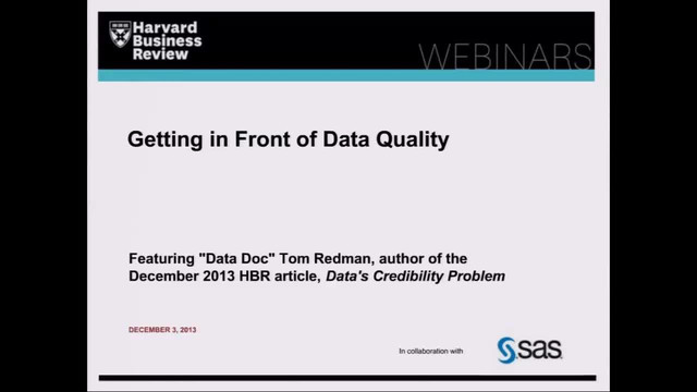 Getting in Front of Data Quality