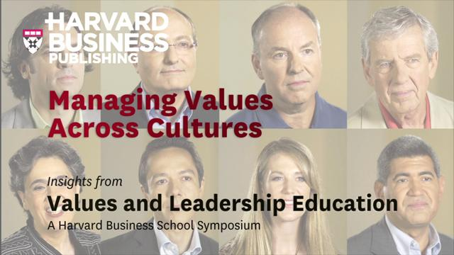 Managing Values Across Cultures