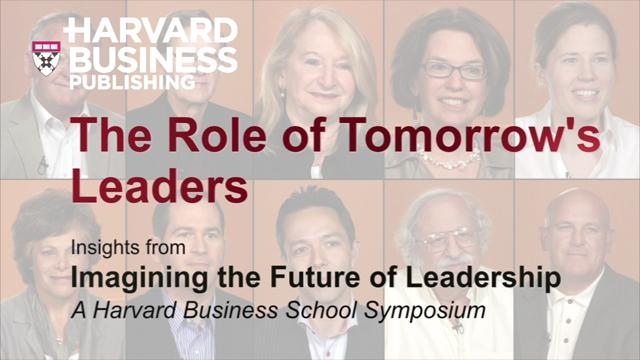 The Role of Tomorrow's Leaders