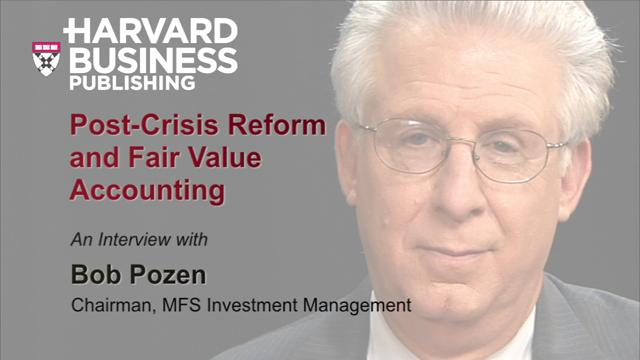 Post-Crisis Reform and Fair Value Accounting